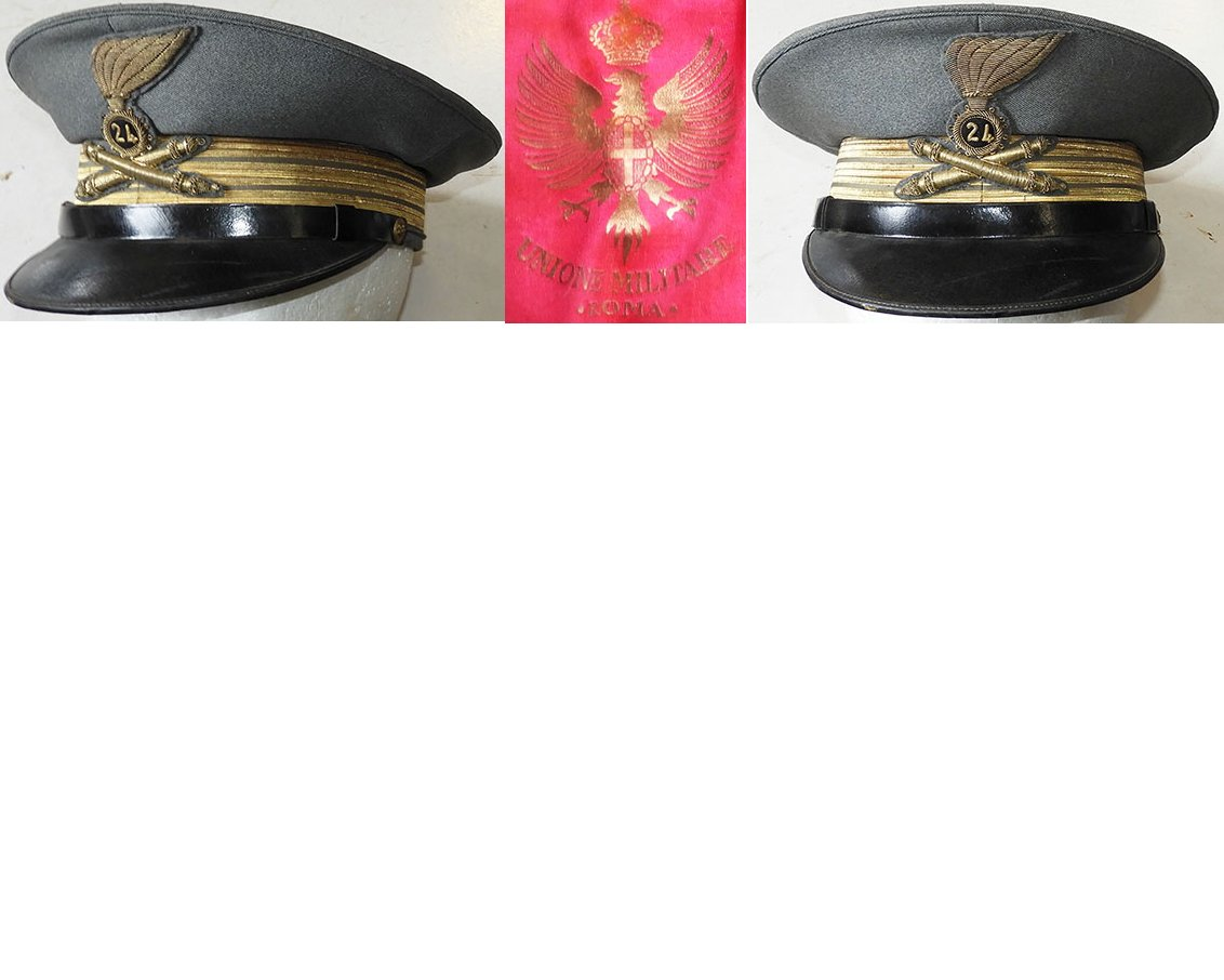 AXIS002. ITALY 24th ARTILLERY REGIMENT CAPTAIN'S PEAKED CAP