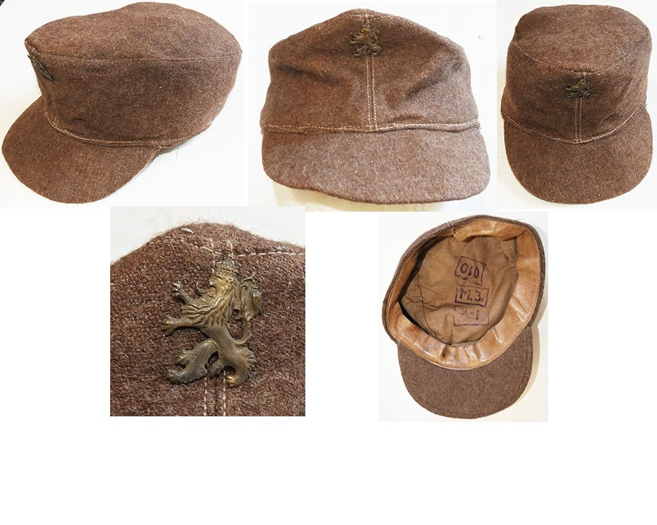 AXIS010. BULGARIAN WWII PANZER CREW M43 TYPE CAP