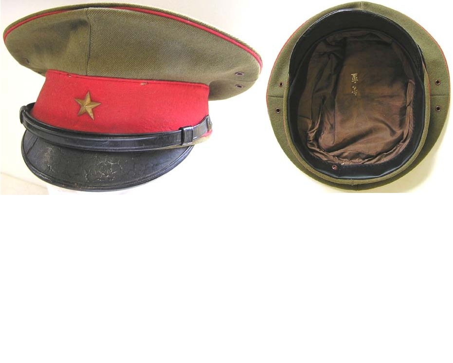 AXIS036. JAPANESE WWII INFANTRY OFFICERS PEAKED CAP
