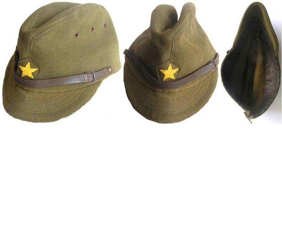 AXIS040. JAPANESE WWII ARMY OFFICERS FIELD CAP