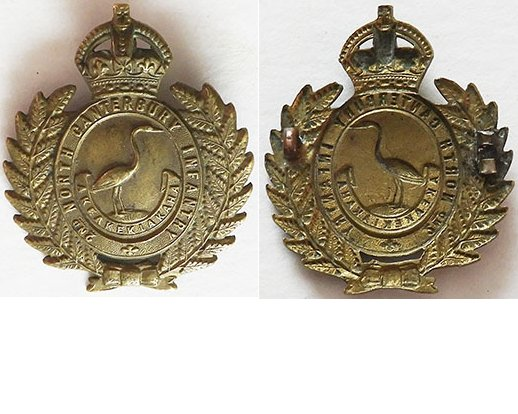 B02/142. 2nd NORTH CANTERBURY BATTALION right collar badge