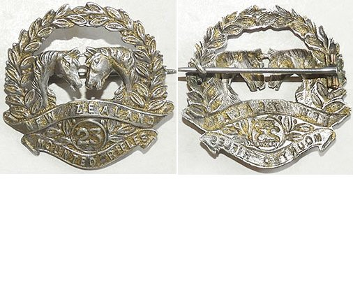 B04/193. 23rd MOUNTED RIFLES REINFORCEMENTS silver sweetheart