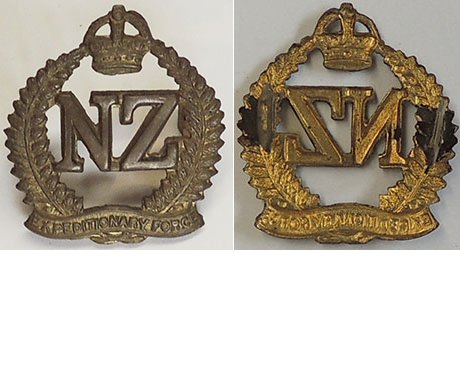 B04/227. 1st N.Z. EXPEDITIONARY FORCE collar badge