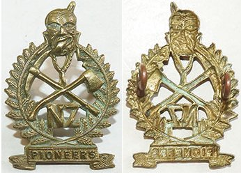 B04/291. NZ MAORI PIONEER BATTALION collar badge, brass