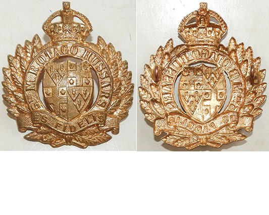 B05/036. 5th MOUNTED RIFLES (OTAGO HUSSARS), all brass cap badge
