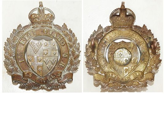 B05/037. 1st REGIMENT, OTAGO MOUNTED RIFLES, cap badge