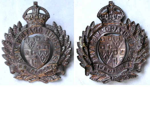 B05/033. 5th MOUNTED RIFLES (OTAGO HUSSARS), all brass cap badge