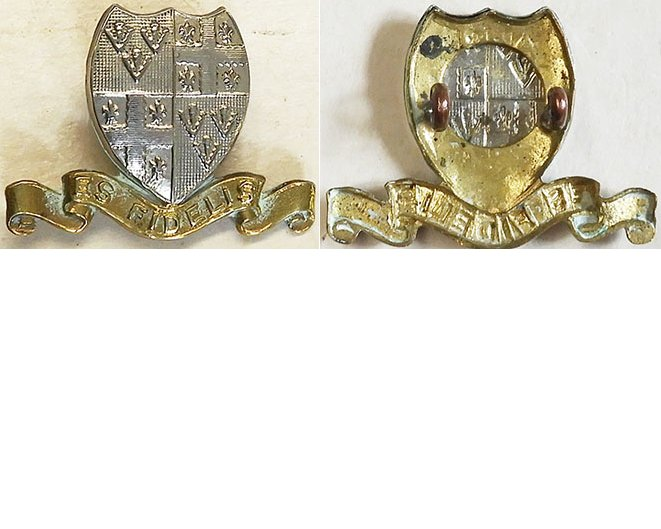 B05/039. 5th MOUNTED RIFLES (OTAGO HUSSARS), collar badge