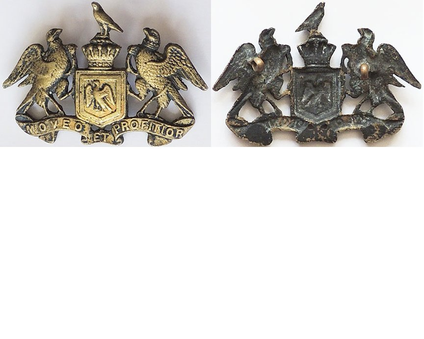 B05/058b. 8th (SOUTH CANTERBURY) MOUNTED RIFLES, cap badge cast