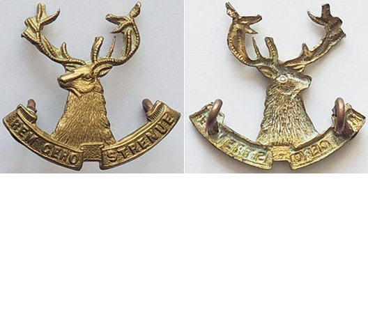 B05/070. 10th (NELSON) MOUNTED RIFLES, left collar badge, brass
