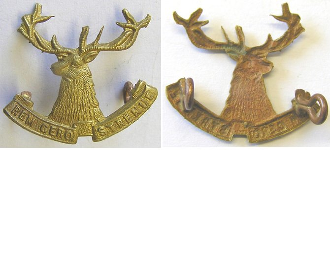 B05/071. 10th (NELSON) MOUNTED RIFLES, left collar badge