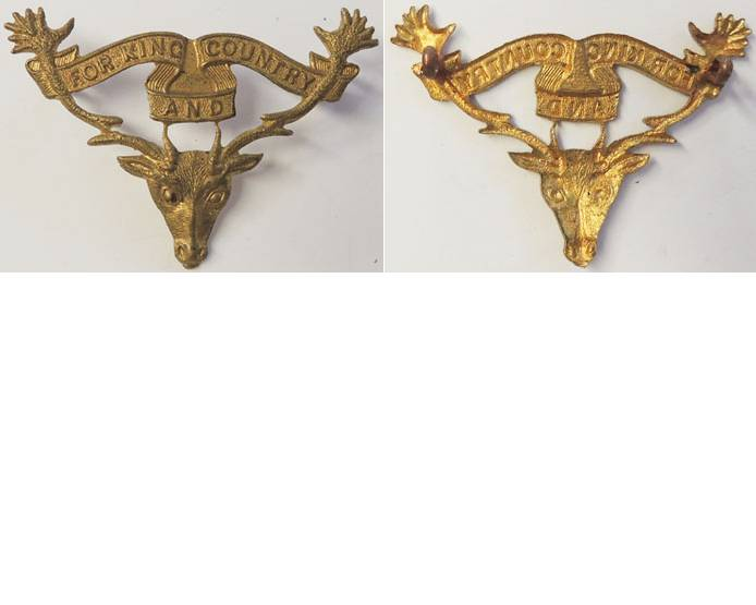 B05/079. 12th (OTAGO) MOUNTED RIFLES, cap badge, voided
