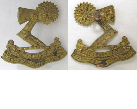 B06/022a. 3rd (AUCKLAND) REGIMENT right collar badge, brass