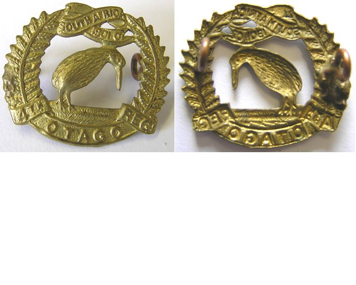 B06/036a. 4th (OTAGO RIFLES) REGIMENT right collar badge, brass