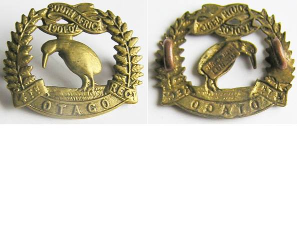 B06/036. 4th (OTAGO RIFLES) REGIMENT left collar badge brass