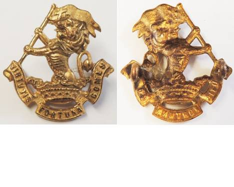B06/054. 5th (WELLINGTON RIFLES) REGIMENT left collar, gilt