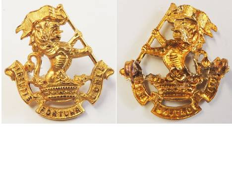B06/054a. 5th (WELLINGTON RIFLES) REGIMENT, right collar gilt