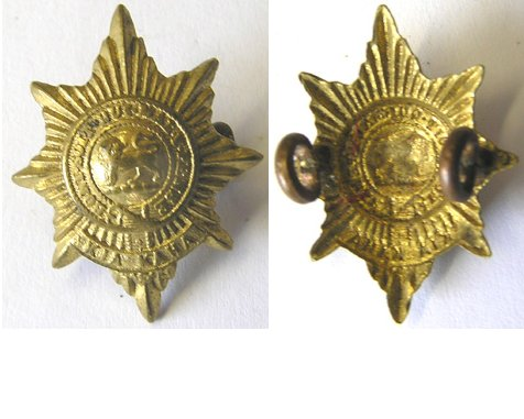 B06/065. 6th (HAURAKI) REGIMENT left collar badge, brass