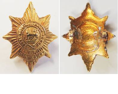 B06/069. 6th (HAURAKI) REGIMENT left collar badge, gilt