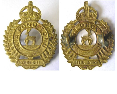 B06/123. NELSON, MARLBOROUGH & W.C. REGt. brass cap badge