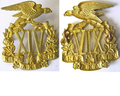 B06/137. 14th (SOUTH OTAGO) REGt. voided brass cap badge