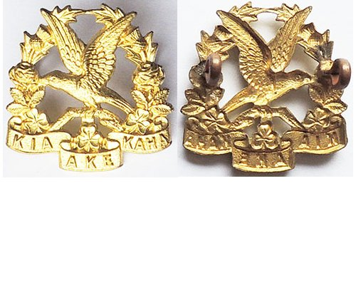 B06/140a. 14th (SOUTH OTAGO) REGt., voided brass left collar.