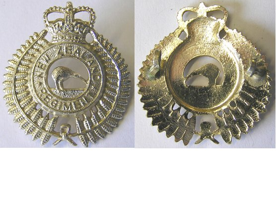 B06/168. NEW ZEALAND REGt. cap badge, anodised