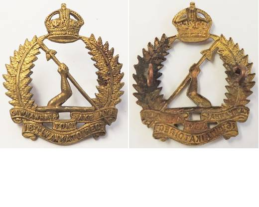 B06/152. 16th (WAIKATO) REGt. brass cap badge