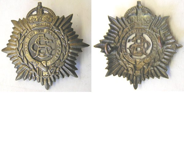 B08/026. N.Z. ARMY SERVICE CORPS brass cap badge