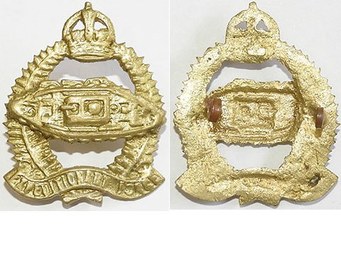 B08/007. N.Z. ARMOURED CORPS, WWI tank on Expedit. Force frame