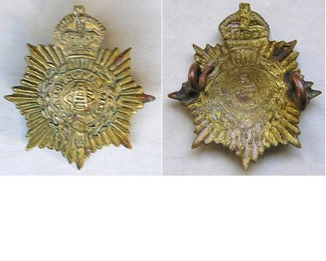 B08/034. N.Z. ARMY SERVICE CORPS brass collar badge