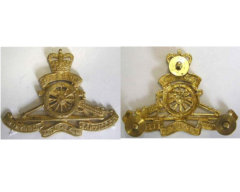 B08/066. ROYAL N.Z. ARTILLERY new type brass cap badge