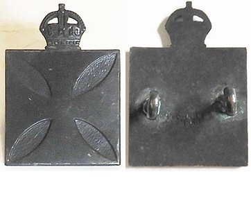 B08/095. CHAPLAIN'S DEPARTMENT, collar, blackened Maltese cross