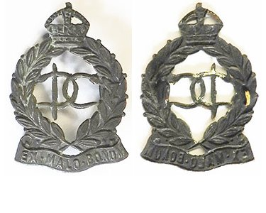 B08/121. NEW ZEALAND DENTAL CORPS, DC centre, collar badge.