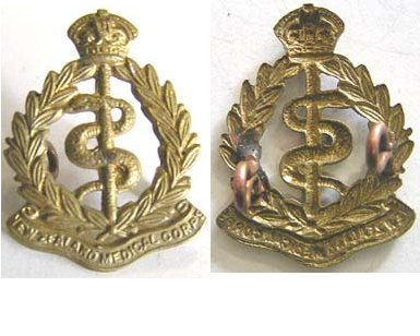 B08/227. NZ MEDICAL CORPS brass collar badge