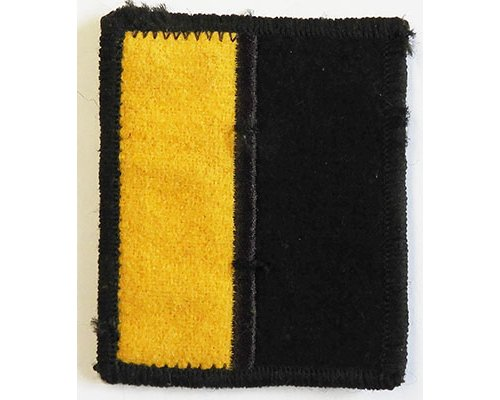 B08/193b.	RNZ LOGISTICS REGIMENT, yellow & black cloth backing