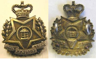 B08/250. ROYAL NZ NURSING CORPS Bi-metal collar badge