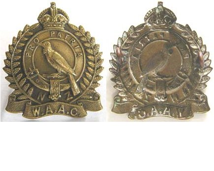 B08/370. NZ WOMEN'S AUXILIARY ARMY CORPS brass cap badge