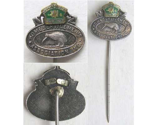 B11/064. NZ HOME SERVICEMEN'S ASSOCIATION, oval silver badge