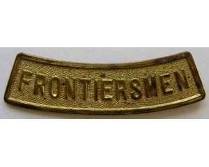 B12/010. FRONTIERSMEN, solid, curved, round lugs