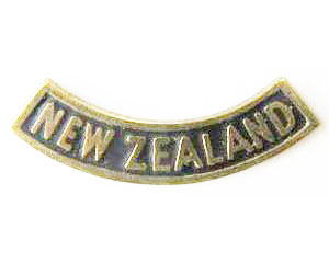 B12/024. NEW ZEALAND, solid, curved, round lugs
