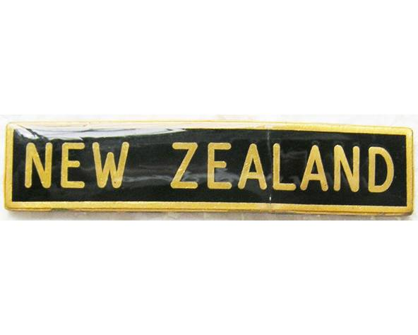 B12/024a. NEW ZEALAND on black, for RNZN, resin coated, solid