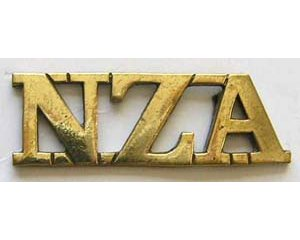 B12/045. NZA (New Zealand Artillery) straight