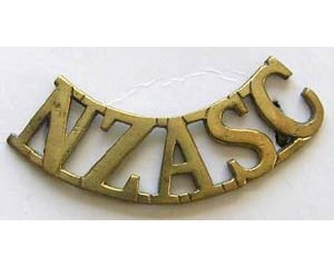 B12/053. NZASC (Army Service Corps) curved, hexagonal lugs