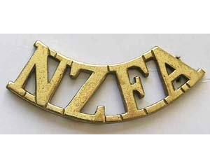 B12/065. NZFA (NZ Field Artillery) curved