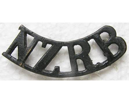 B12/105a. NZRB, curved (New Zealand Rifle Brigade), blackened br