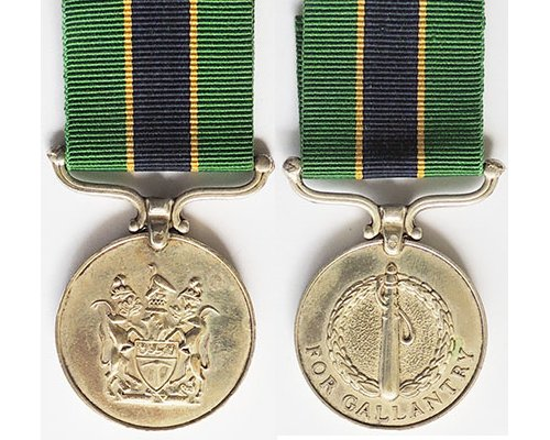 BC0573. RHODESIA POLICE DECORATION FOR GALLANTRY