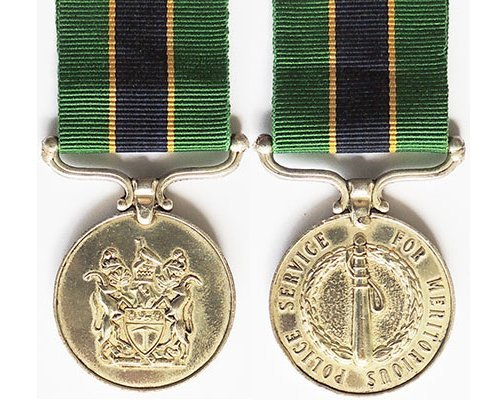 BC0575. RHODESIA POLICE MEDAL FOR MERITORIOUS SERVICE