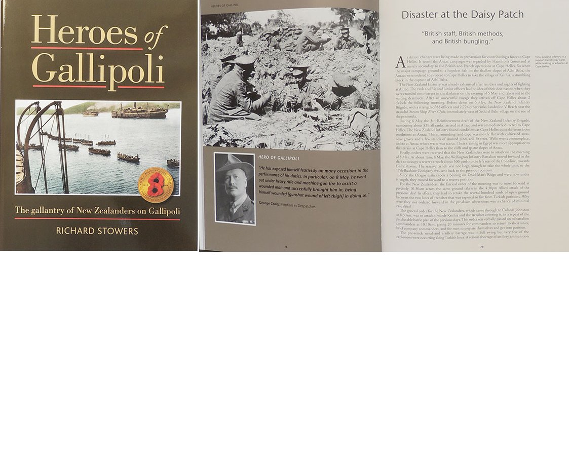 BK1012. HEROS OF GALLIPOLI by Richard Stowers