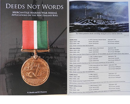 BK1018. DEEDS NOT WORDS, NZ Mercantile Marine War Medal Roll